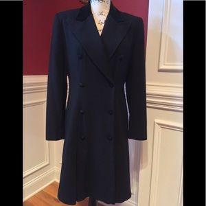 Liz Claiborne Black Double-Breasted Dress